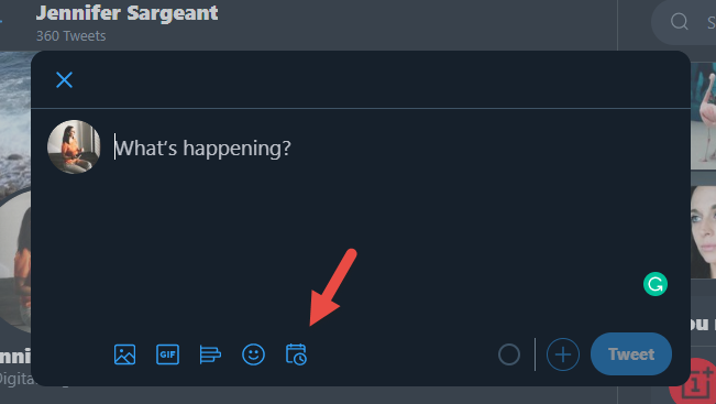 Jennifer Sargeant shares new Twitter scheduling feature.